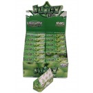 Juicy Jays Green Apple Flavoured Cigarette Rolling Paper Big Size - Pack Of 24 - 32 Leaves Per Pack