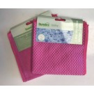 Dunelm Utility Pink Microfibre Kitchen Cloth - 35 x 35cm - Assorted Design - Pack of 2