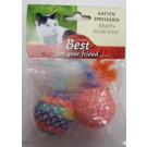 Feather Pet Cat Toy Balls- Pack of 2