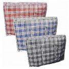 Large Size Check Design Zipper Shopping/Laundry Bag - 60 x 50 x 25cm - Colours May Vary