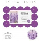 Opella Fragranced/Scented Tea Lights / Candles - Lavender - Pack Of 15