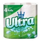 Little Duck Ultra All Purpose Kitchen Towel - 225mm - 2 Ply - White - Pack of 4