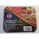 Medium Disposable Foil Containers With Lids (14Cm) - Pack Of 9