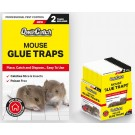 Qwik Catch Poison Free Mouse Glue Traps - Pack of 2