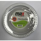 """Max House Wares Disposable Plastic Round Bowl - 6"""" - White - Pack of 18"""