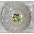 """Max House Wares Disposable Plastic Salad Bowl - 11"""" - White - Pack of 4"""