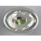 """Max House Wares Disposable Plastic Oval Plate - 10"""" - White - Pack of 8"""