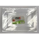 """Max House Wares Disposable Plastic Rectangular Plate - 13"""" - White - Pack of 4"""
