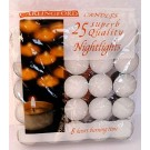 Carlingford Superb Quality Night Light Candles - Pack of 25