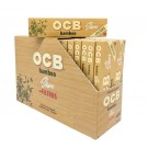 OCB Bamboo Unbleached Rolling Papers + Filters - Slim - Pack of 32