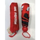 One Direction Compact Umbrella - 100cm Span - Red/Black