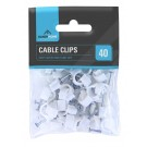 Handy Homes 8mm Plastic Cable Clips - Pack of 40