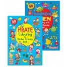 My Fun Colouring & Sticker Activity Book - Assorted Designs - Monster/Pirate - 29.5 x 21cm