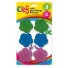 Mini Play Dough Flowers - 12 Assorted Colours - Pack Of 6