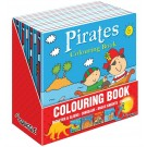 Boys Colouring Books - Assorted - Dinosaur/Pirates/Knights/Monsters - 21 x 21cm