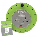 Pifco 2 Way Cassette Reel Extension Lead - 10 Meters