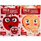 Face Facts Printed Sheet Mask - Pretty Peach & Cheeky Cherry - 20ml