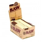 Raw Organic Hemp Natural Unrefined Hemp Rolling Papers + Tips - Connoisseur - 1 1/4 - Pack Of 24