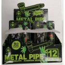 5 Piece Reggae Jamaica Small Metal Tobacco Pipe Screens And High Grad & Brass Pipe - 7cm -Assorted Colours