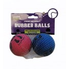 Cooper & Pals Strong & Bouncy Rubber Balls - Assorted Colours - 5.5cm - Pack of 2