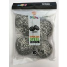 Stainless Steel Scourer - Pack of 4
