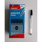 Signature Ball Point Pens - Black - Pack of 50