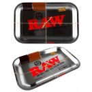 Small Raw Silver Classic Authentic Rolling Tray - 17.5Cm X 27.5Cm