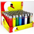 Swan Refillable/Reflintable Lighters - Assorted Colours