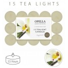 Opella Fragranced/Scented Tea Lights / Candles - Vanilla - Pack Of 15