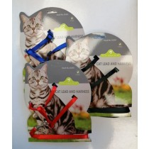 Pets That Play Cat Lead & Harness - Assorted Colours
