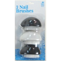 Nail Brushes - Pack Of 3 - Colours May Vary