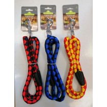 Pets That Play Nylon Dog Lead with Hook - Assorted Colours - 15mm x 1200mm