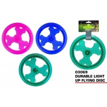 Pets That Play Fetch & Retrieve / Pull & Tug Durable Light-Up Flying Disc - For Small / Medium Dogs - Assorted Colours