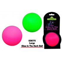 Pets That Play Large Glow in The Dark Ball - Assorted Colours - 8cm