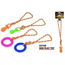 Pets That Play Pull & Tug Dog Play Toy for Small & Medium Dogs - Assorted Shapes & Colours