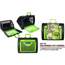 Pets That Play Collapsible Pet Carrier - For Cats & Small Dogs - Green/Black