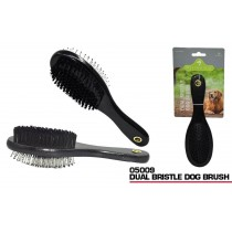 Pets That Play Dual Bristle Dog Brush - For Small / Medium Dogs - Black