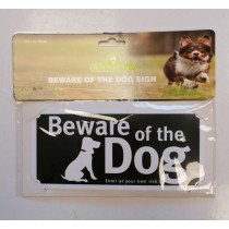 Beware Of The Dog Warning Safety Sign - 20.5 x 9.5cm