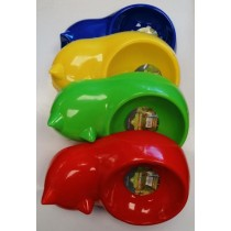 Pets That Play Cat Feeding Bowl - Colours Vary - 26 x 17 x 6.5cm