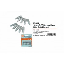 JAK CR-V Screwdriver Bits Set - 25mm - Pack of 10
