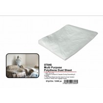 JAK Multi Purpose Polythene Dust Sheet - 4m x 5m - Clear