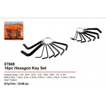 JAK Allen Hexagon Key Set - Pack of 16