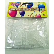 Balloon Clip Set (100 Piece)