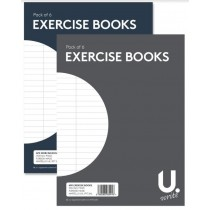 U Write Exercise Books - 15cm x 20cm - Assorted Colours - Pack of 6