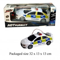 Hot Pursuit Full Function Radio Controlled Police Car - 32 x 13 x 13cm - 1:20