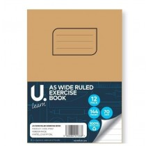 U Learn A5 Wide Ruled Exercise Book - 70 GSM - 144 Pages