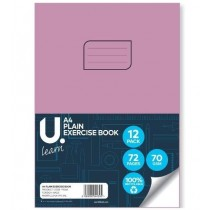U Learn A4 Plain Exercise Book - 70 GSM - 72 Pages