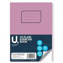 U Learn A5 Plain Exercise Book - 70 GSM - 144 Pages