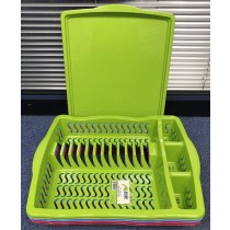 Asude Dish Drainer Rack with Plate - 50 x 38cm - Colours May Vary