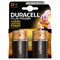 DURACELL PLUS POWER D2 BATTERIES - PACK OF 2
